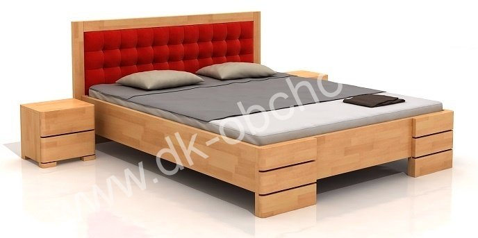 Buková zvýšená postel z masivu Gotland 200x200 - high