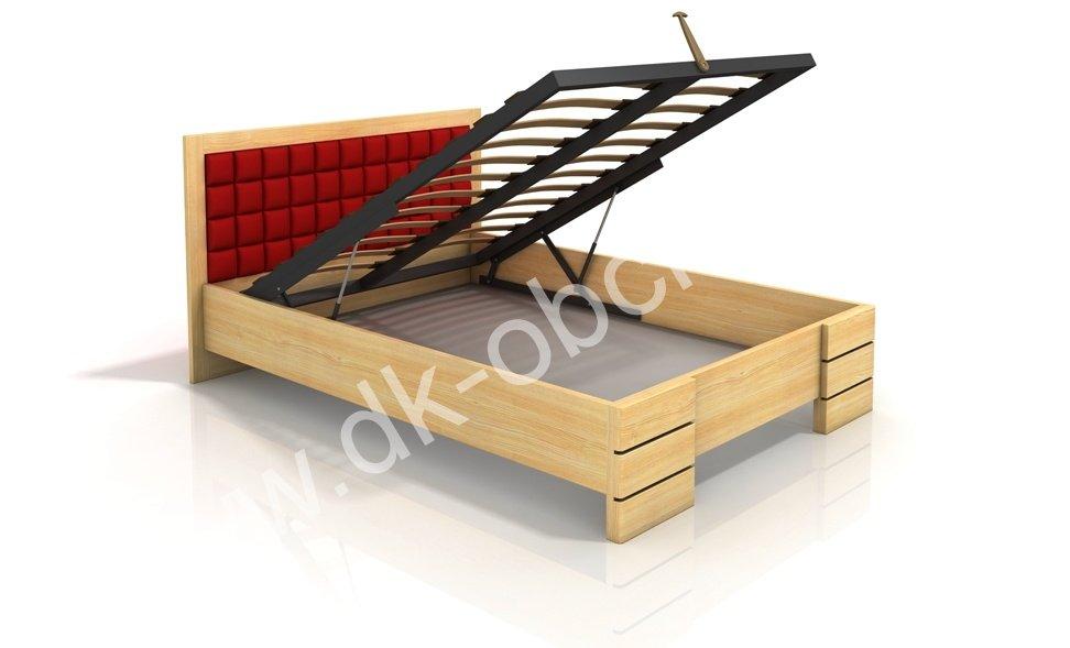 Zvýšená postel s úložným prostorem z masivu Gotland 200x200 - high