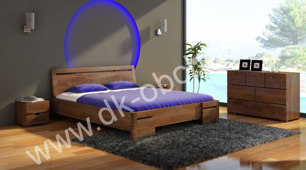 Zvýšená postel z masivu Salerno Maxi 120x200