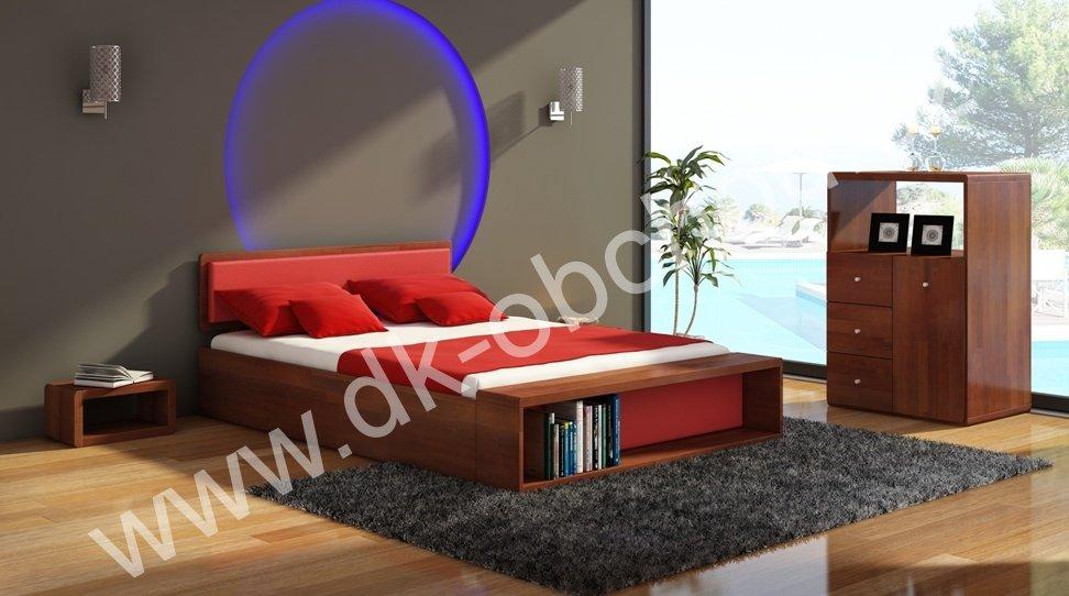 Zvýšená postel z masivu Boverio 180x200