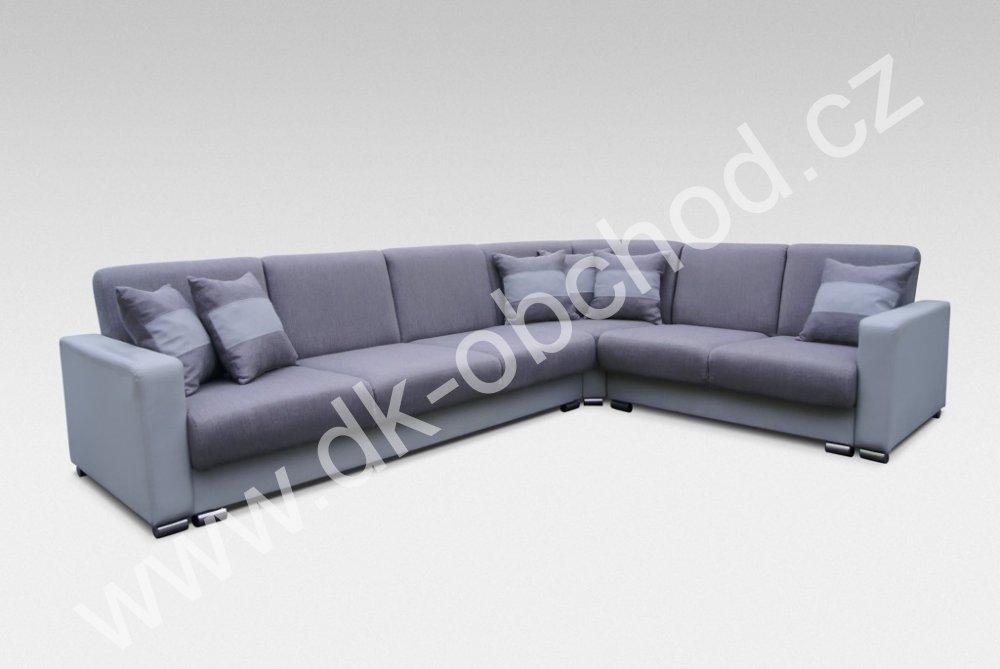 Rohová sedací souprava s úložným prostorem - Nero