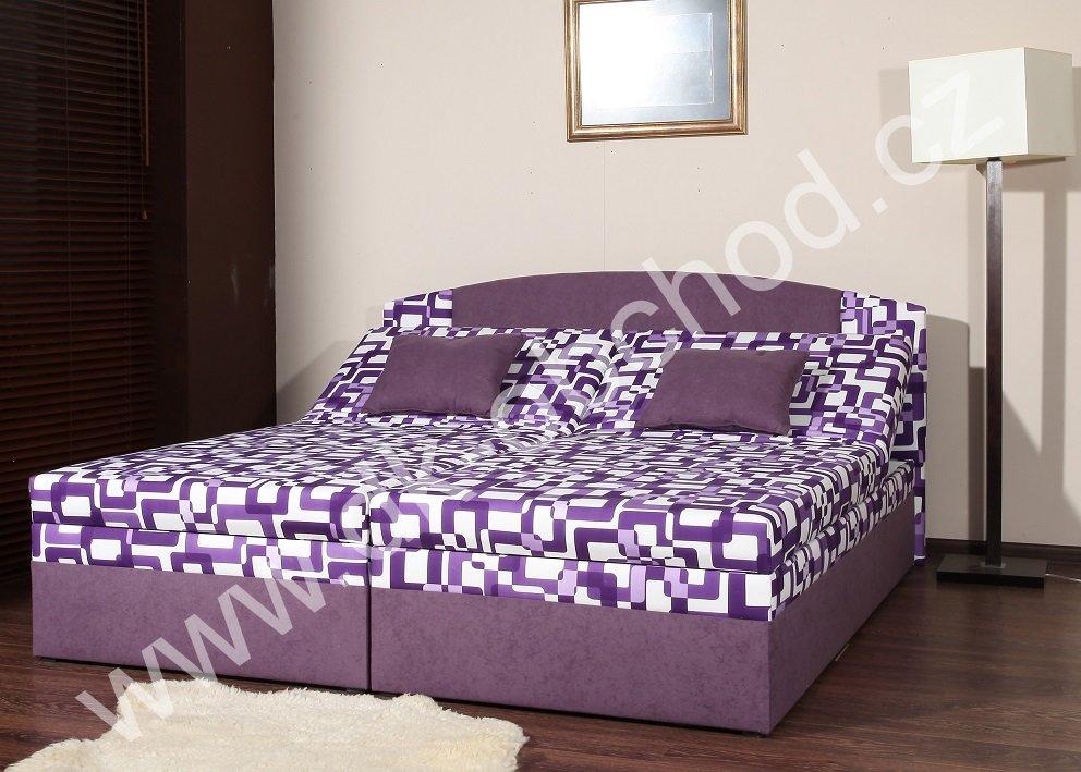čalouněná postel s úložným prostorem