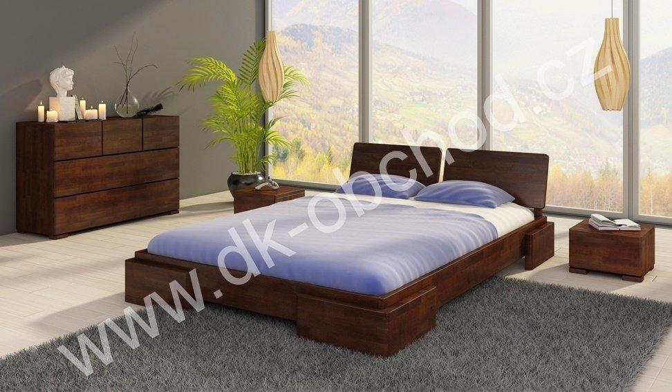 Buková postel z masivu Argento 200x200