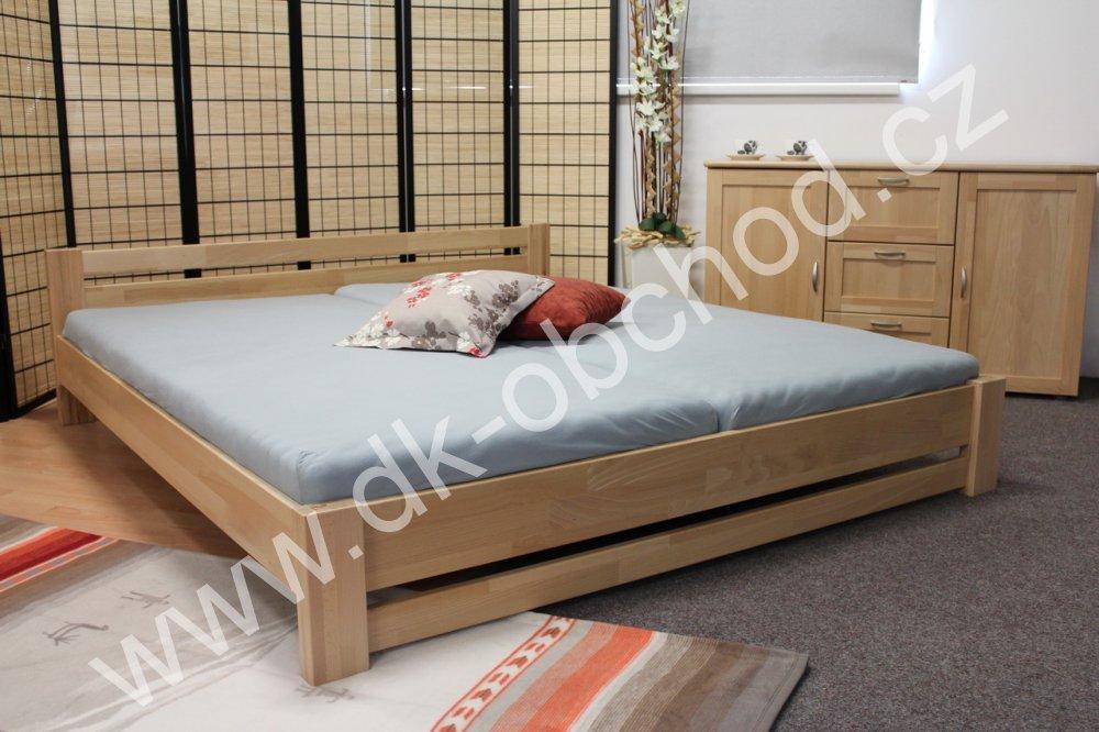Buková manželská postel - 180x200 KAREL high