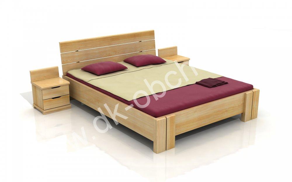 Zvýšená postel z masivu Arhus 200x220 - high long