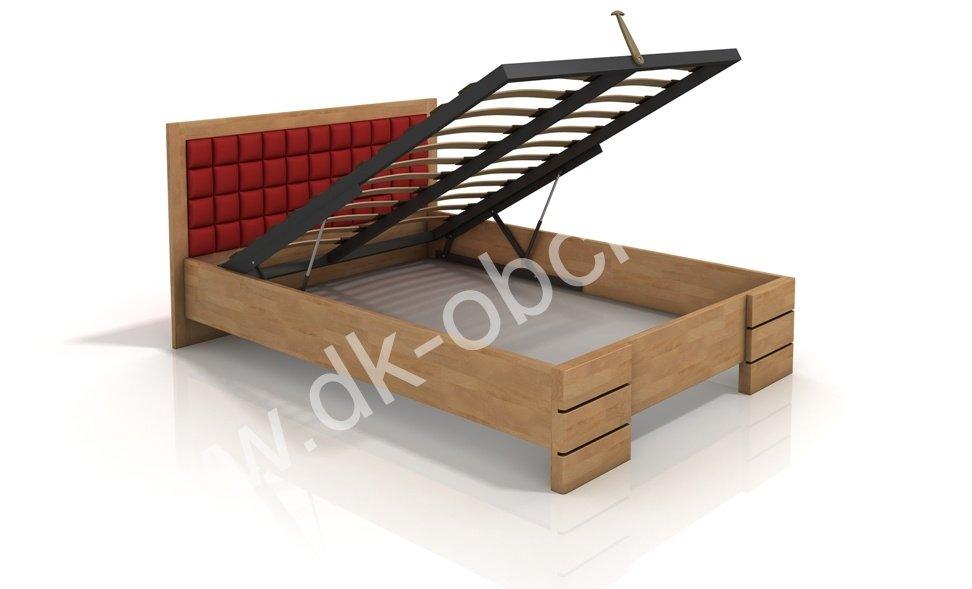Buková zvýšená postel s úložným prostorem z masivu Gotland 180x200 - high