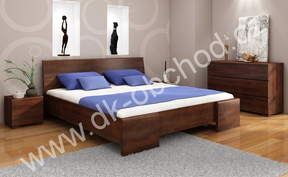 Buková zvýšená postel z masivu Hessler Maxi 180x200