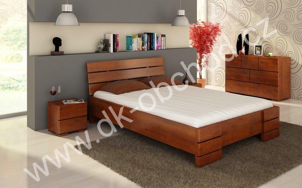 Buková zvýšená postel z masivu Sandemo 180x220 - high long