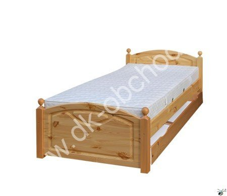 Manželská postel 118 - masiv borovice 180x200 cm