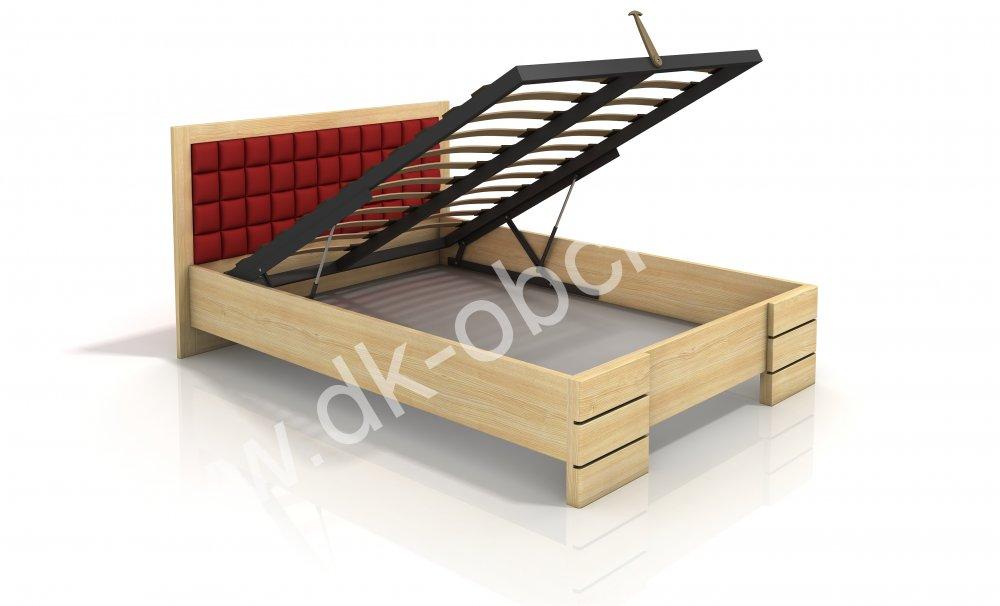 Zvýšená postel s úložným prostorem z masivu Gotland 140x200 - high