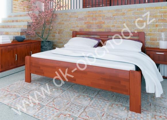 Buková zvýšená manželská postel KATE