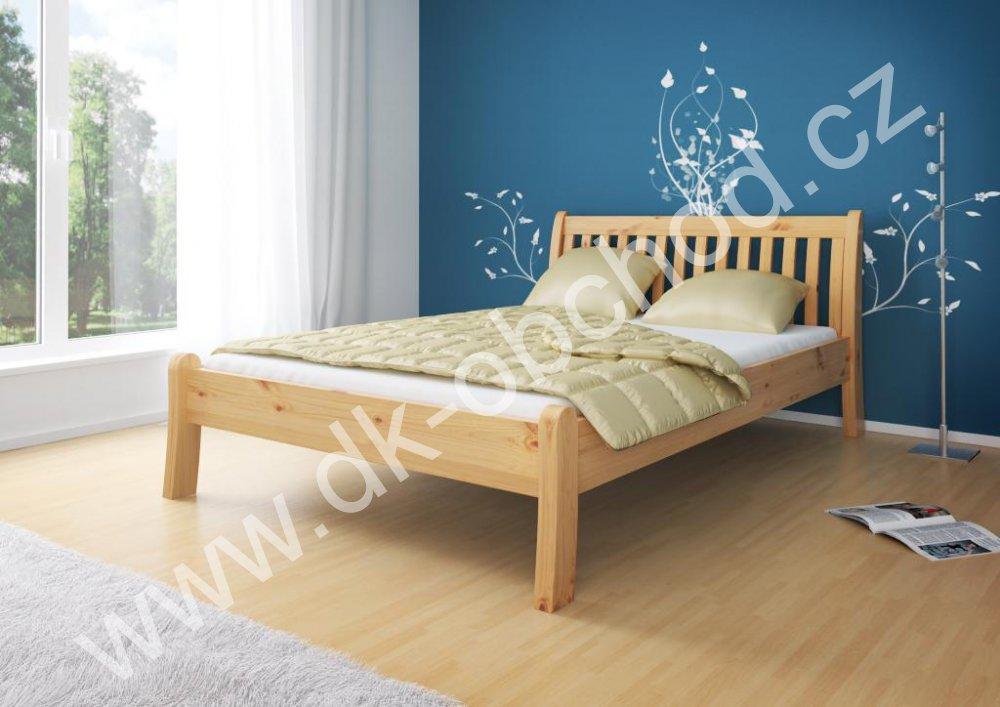 Manželská postel MASSA 180x200 cm - masiv borovice