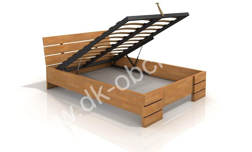Buková zvýšená postel s úložným prostorem z masivu Sandemo 200x220 - high long