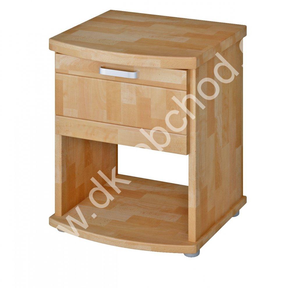 Noční stolek Megan - masiv BUK