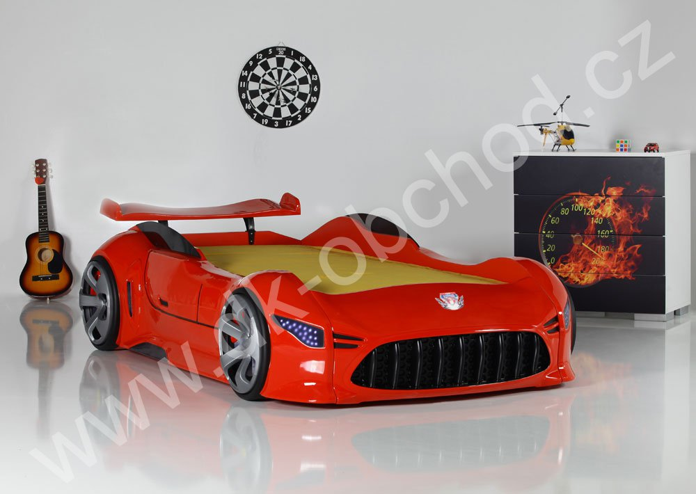Dětská postel auto Matrix red