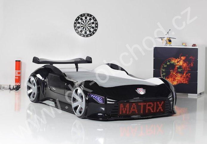 Dětská postel auto Matrix black