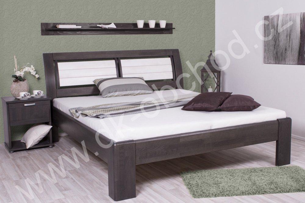 Buková zvýšená manželská postel VALENCIA